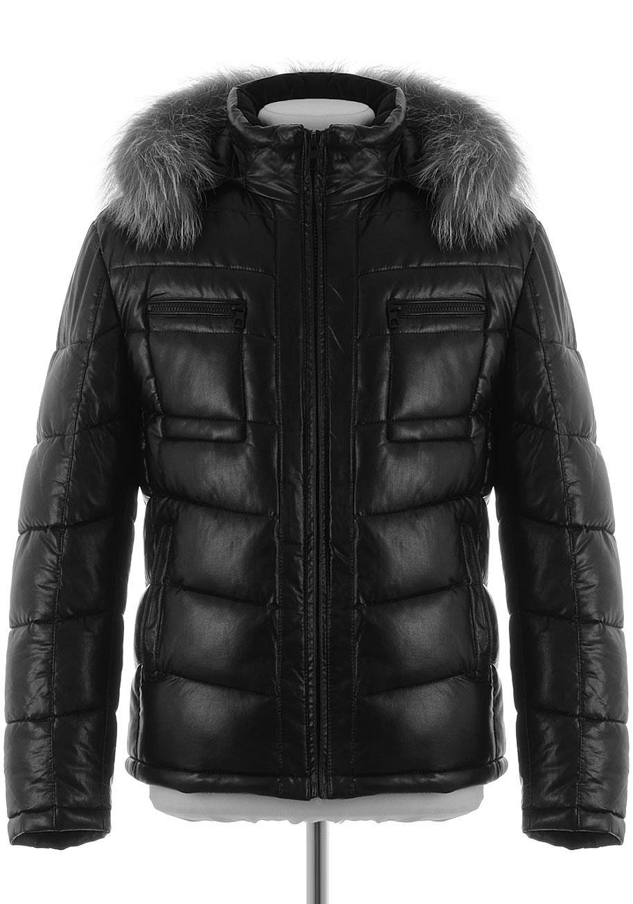f2753955339 Мужская зимняя куртка из PU-кожи BD-1682