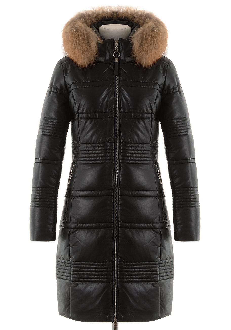 Зимнее пальто из PU-кожи TR-827
