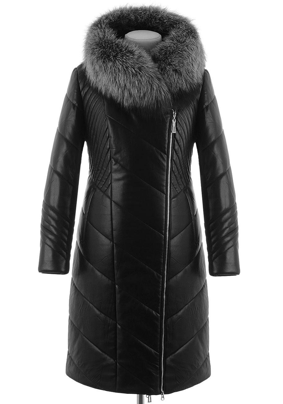 Зимнее пальто из PU-кожи AL-7635